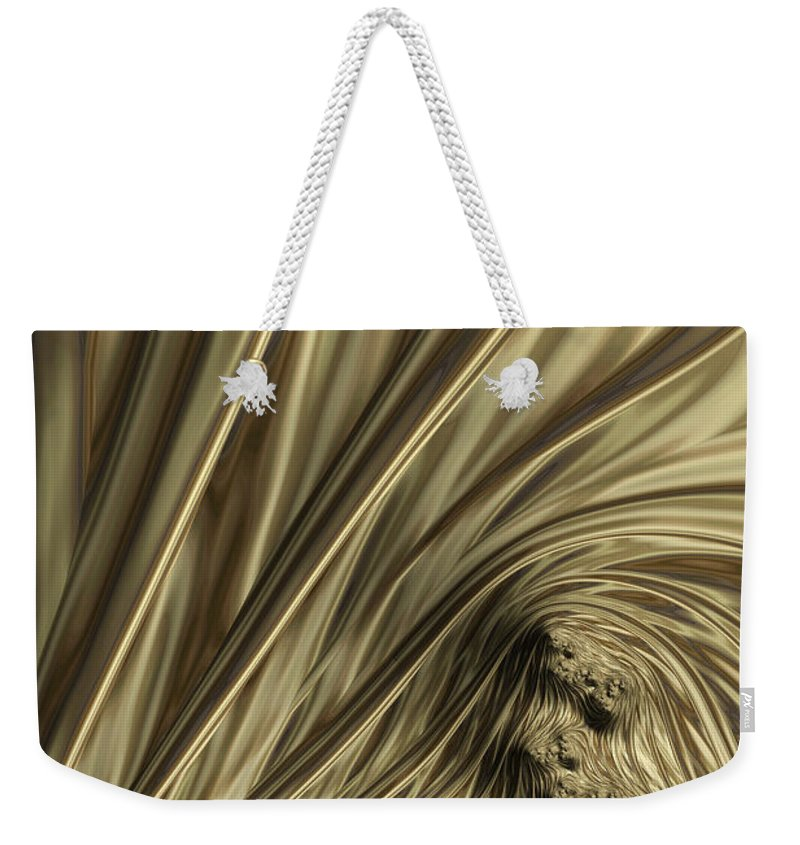Fractal Abstract Weekender Tote Bag featuring the digital art Lost Souls A Flame Fractal Abstract by Ann Garrett
