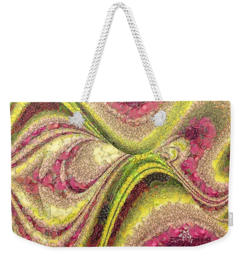 Lotus Weekender Tote Bag featuring the painting Lotus by Dragica Micki Fortuna