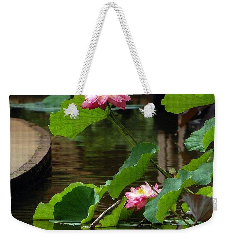 Lotus Flower Weekender Tote Bag featuring the photograph Lotus Flower by Robert Meanor