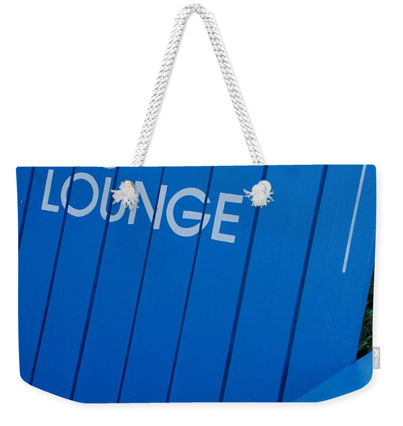 Bench Weekender Tote Bag featuring the photograph Louie S Lounge by Rob Hans