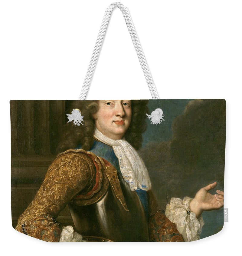 After Francois De Troy Weekender Tote Bag featuring the painting Louis Of France The Grand Dauphin by After Francois de Troy