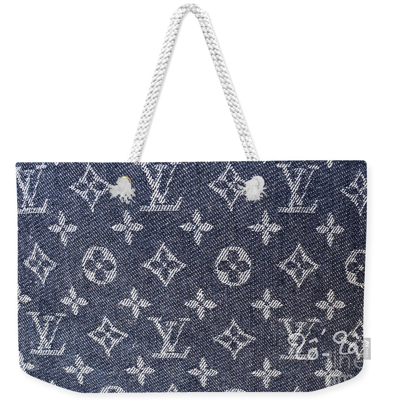 127c4caacec Louis Vuitton Blue Jean Fabric Monogram Weekender Tote Bag