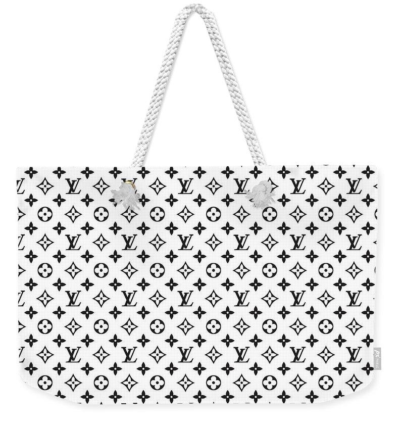 833ed273d61 Louis Vuitton Weekender Tote Bag featuring the digital art Louis Vuitton  Pattern - Lv Pattern 02