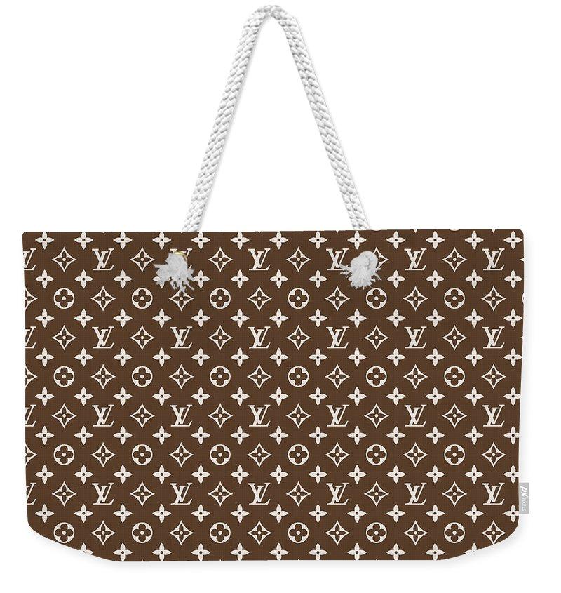 7ede31d3fc42 Louis Vuitton Weekender Tote Bag featuring the digital art Louis Vuitton  Pattern - Lv Pattern 04