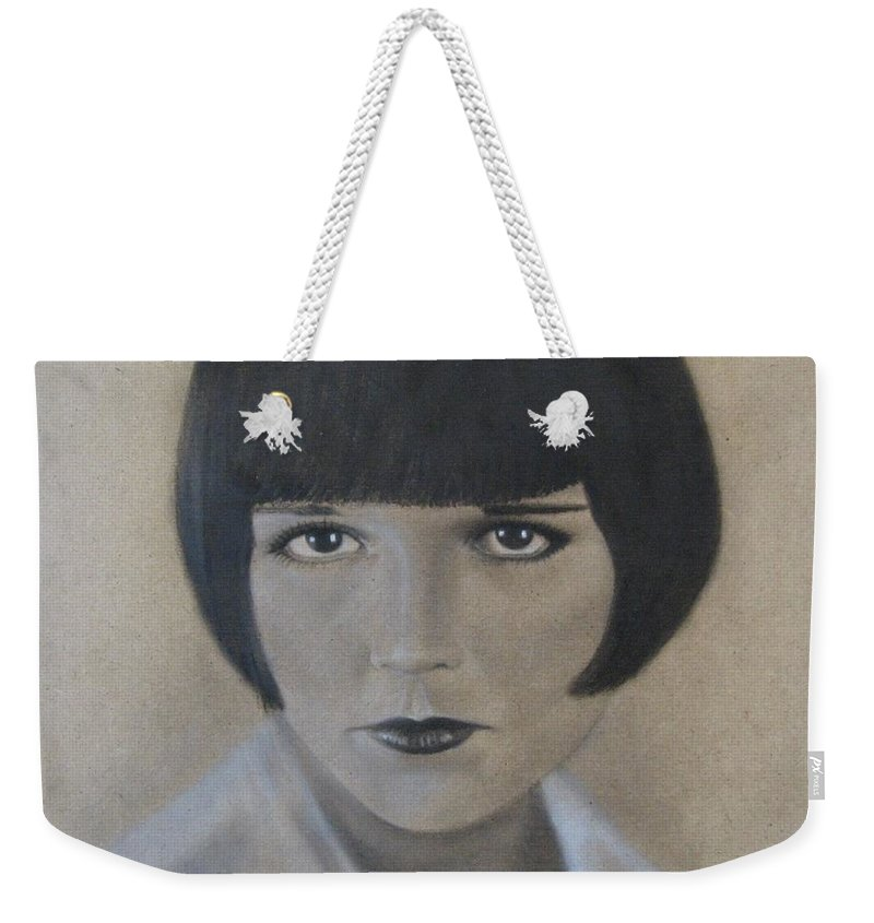Woman Weekender Tote Bag featuring the painting Louise by Lynet McDonald