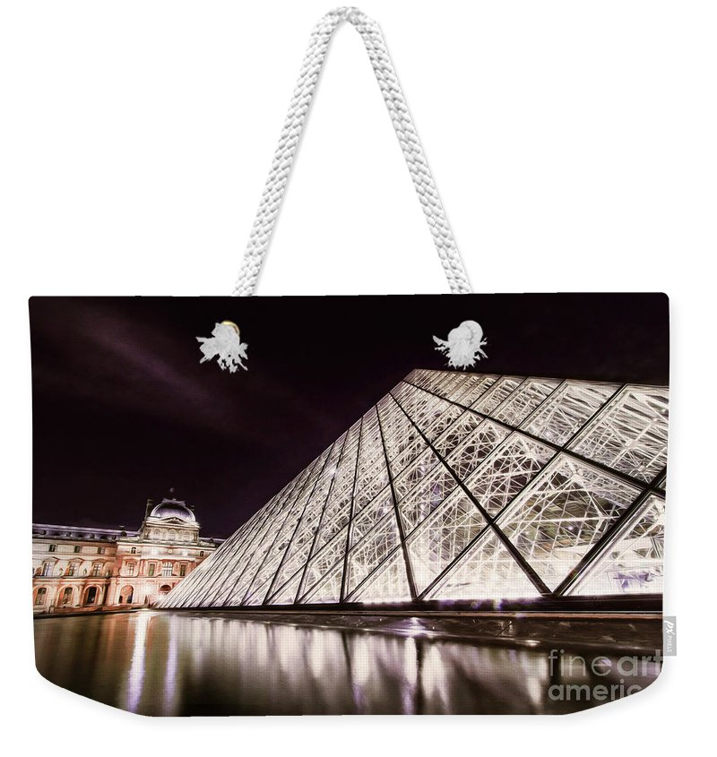 Paris Weekender Tote Bag featuring the photograph Louvre Museum 4 Art by Alex Art and Photo