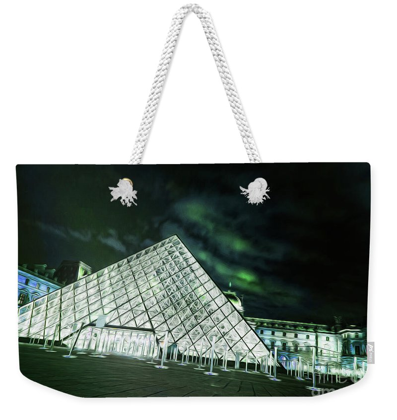 Paris Weekender Tote Bag featuring the photograph Louvre Museum 5b Art by Alex Art and Photo