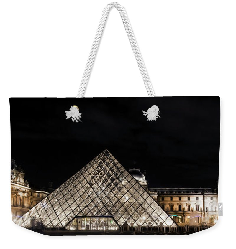 Paris Weekender Tote Bag featuring the photograph Louvre Museum 6 Art by Alex Art and Photo