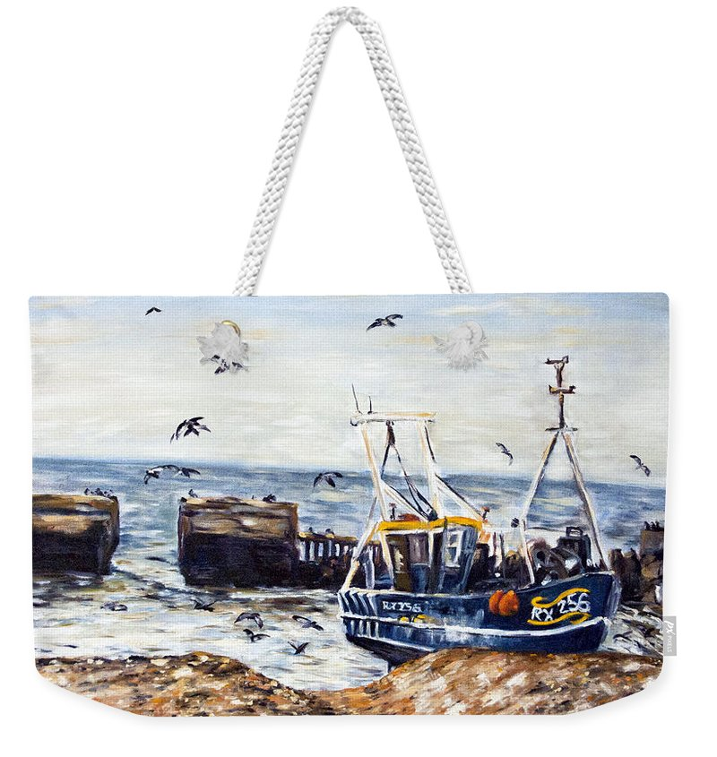 Landscape Weekender Tote Bag featuring the painting lov by Pablo de Choros