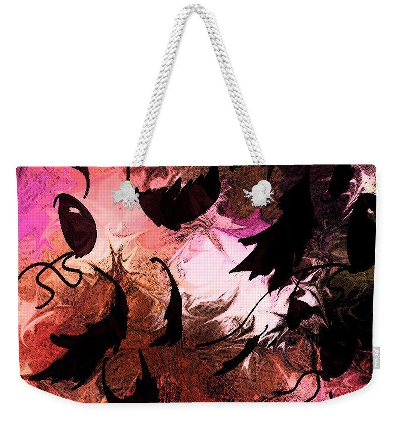Abstract Weekender Tote Bag featuring the digital art Love Affair by Rachel Christine Nowicki