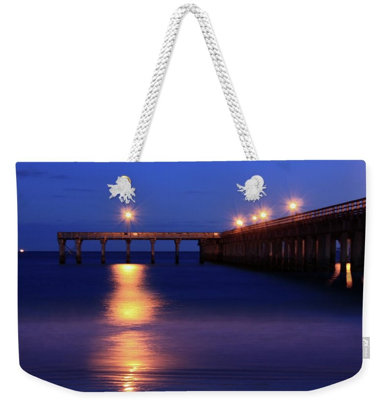 Nature Photograph Weekender Tote Bag featuring the photograph Love Blue by Mark Ashkenazi
