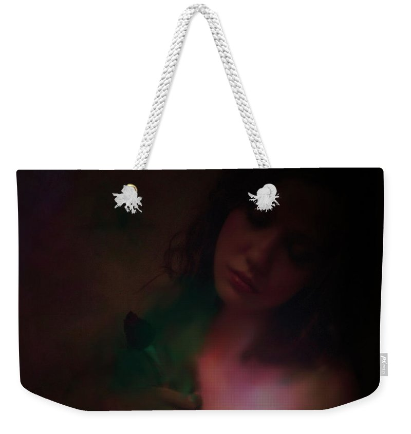 Headshot Weekender Tote Bag featuring the photograph Love Can Hurt by Jeff Burgess