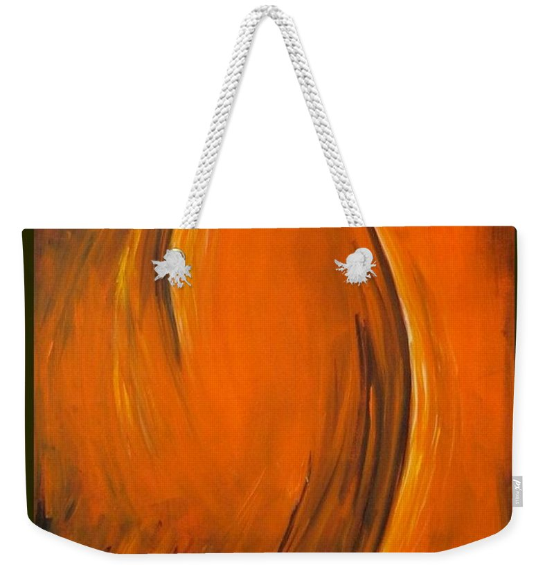 Abstraction Weekender Tote Bag featuring the painting Love by Dragica Micki Fortuna