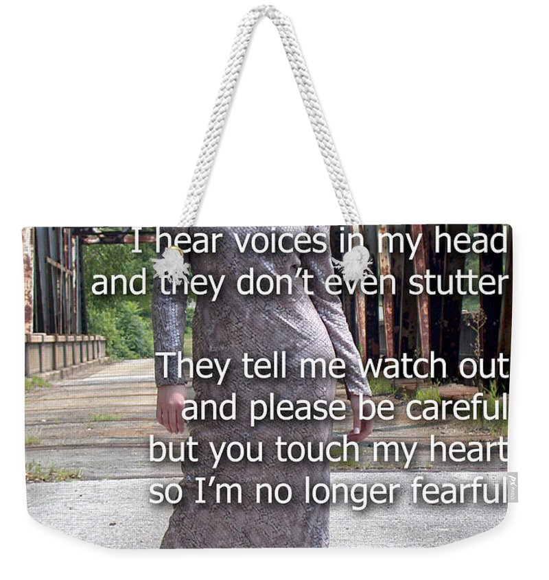Clay Weekender Tote Bag featuring the photograph Love Feels So Real by Clayton Bruster