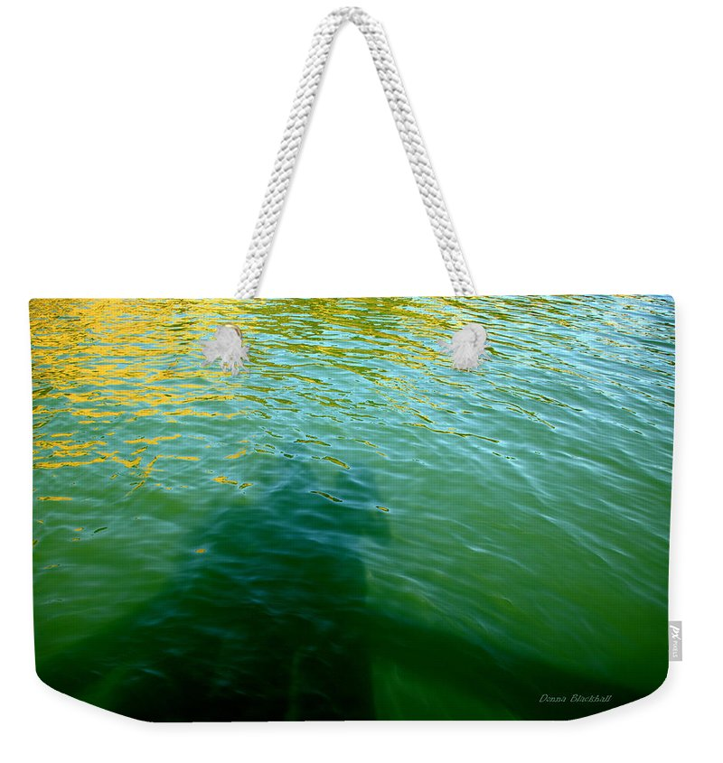 Water Weekender Tote Bag featuring the photograph Love In The Afternoon by Donna Blackhall