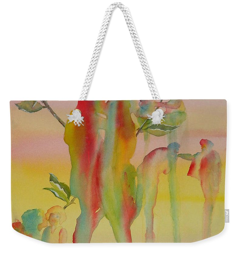 Love Weekender Tote Bag featuring the painting Love Is Eternal by Debbie Lewis