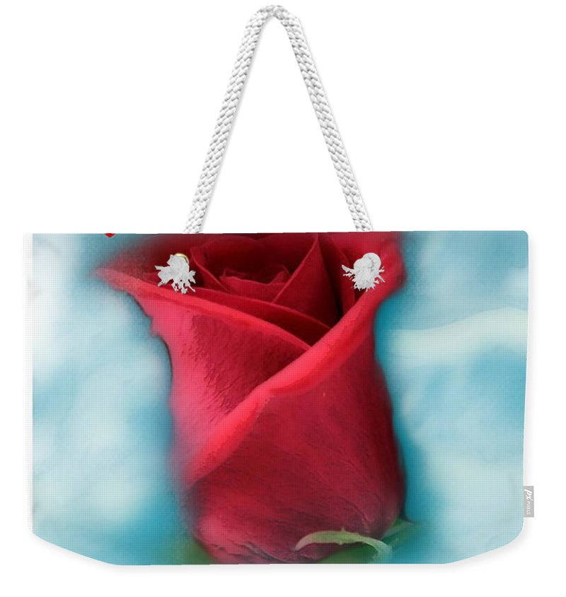 Rose Art Weekender Tote Bag featuring the photograph Love Is In The Air by Linda Sannuti