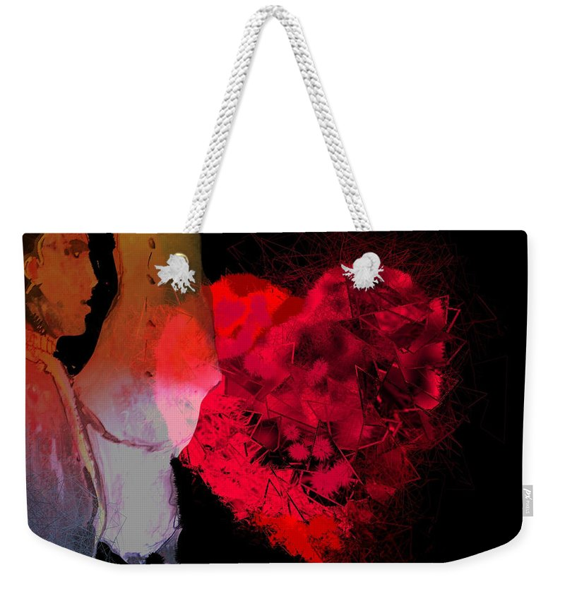 Love Weekender Tote Bag featuring the painting Love Is In The Air by Miki De Goodaboom