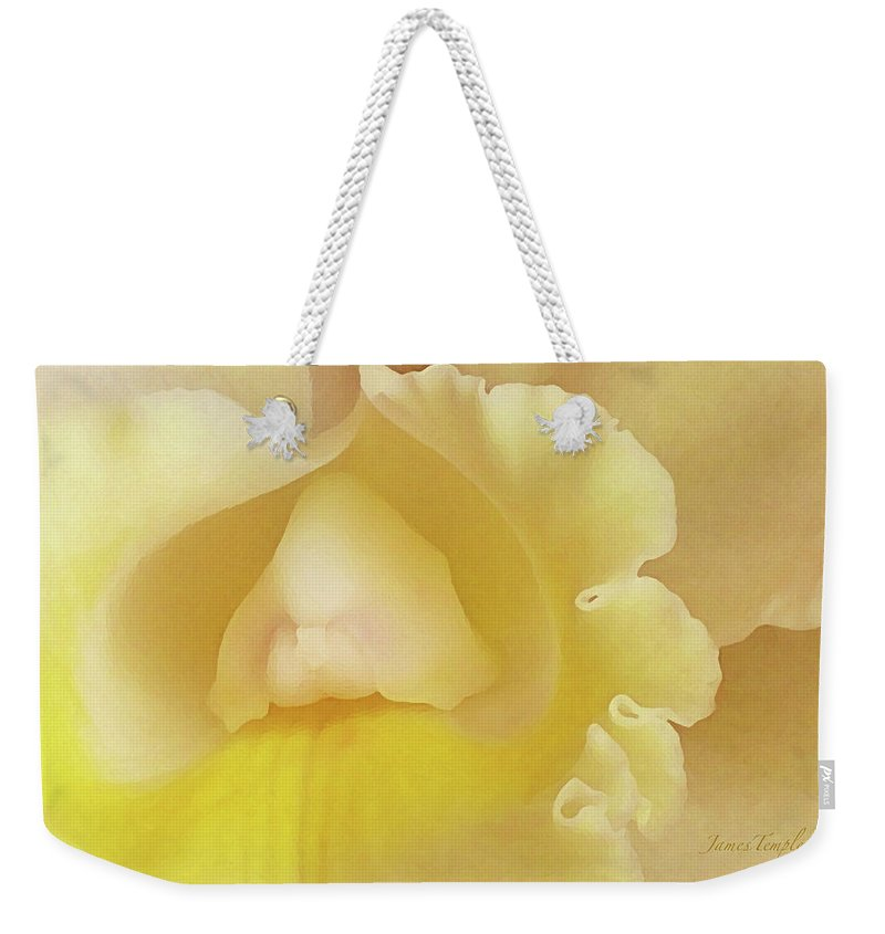 Orchid Weekender Tote Bag featuring the photograph Love by James Temple