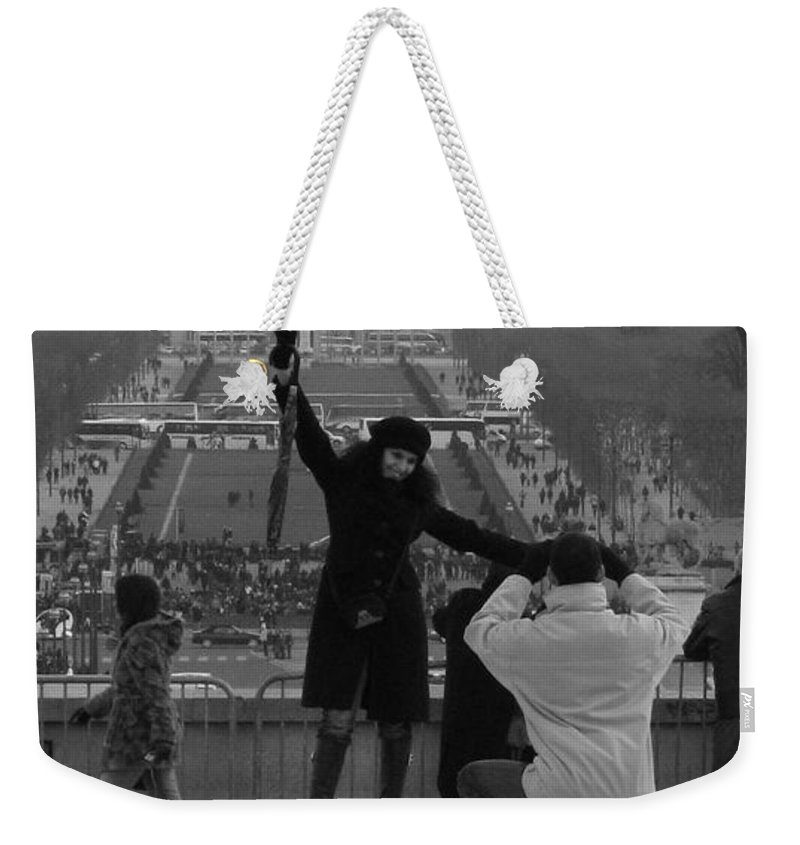 Paris Weekender Tote Bag featuring the photograph Love by Jo Hoden
