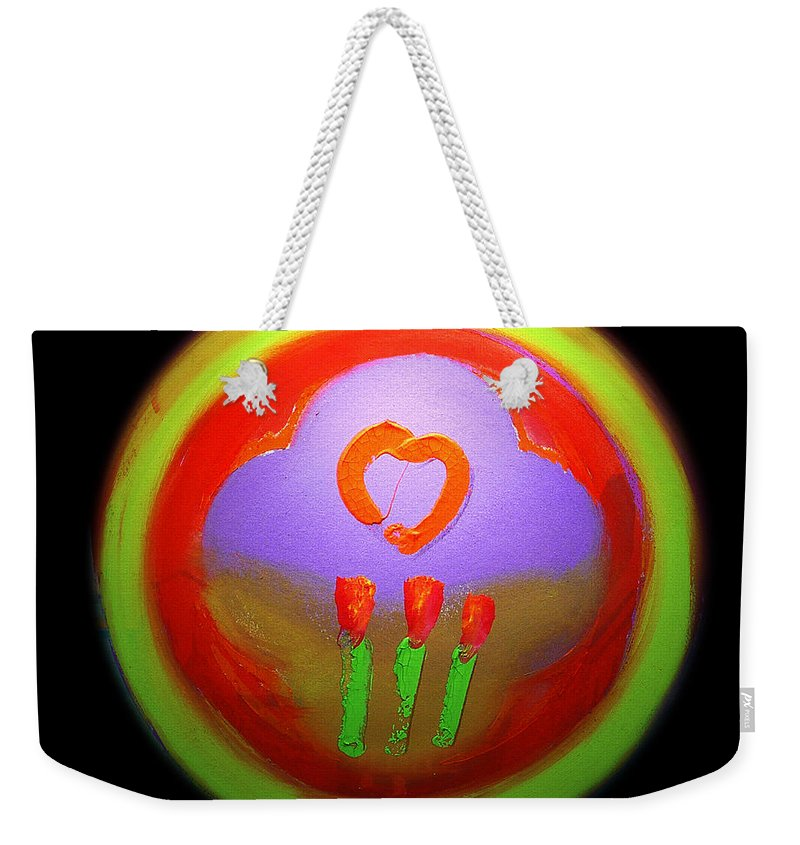 Love Weekender Tote Bag featuring the painting Love Landscape Three by Charles Stuart