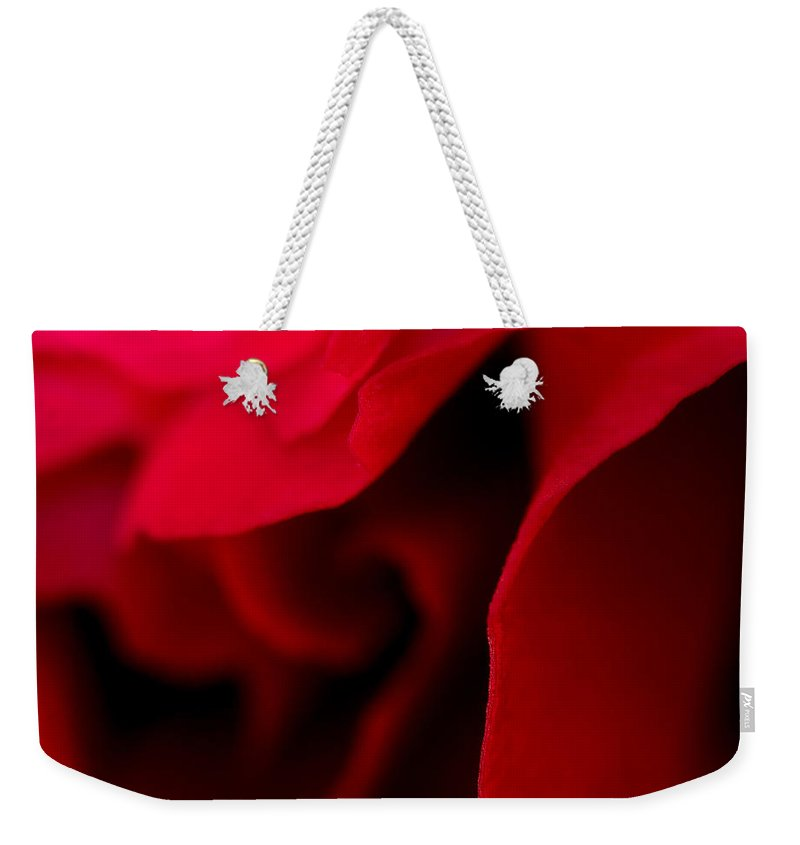 Abstract Weekender Tote Bag featuring the photograph Love by Lauren Radke