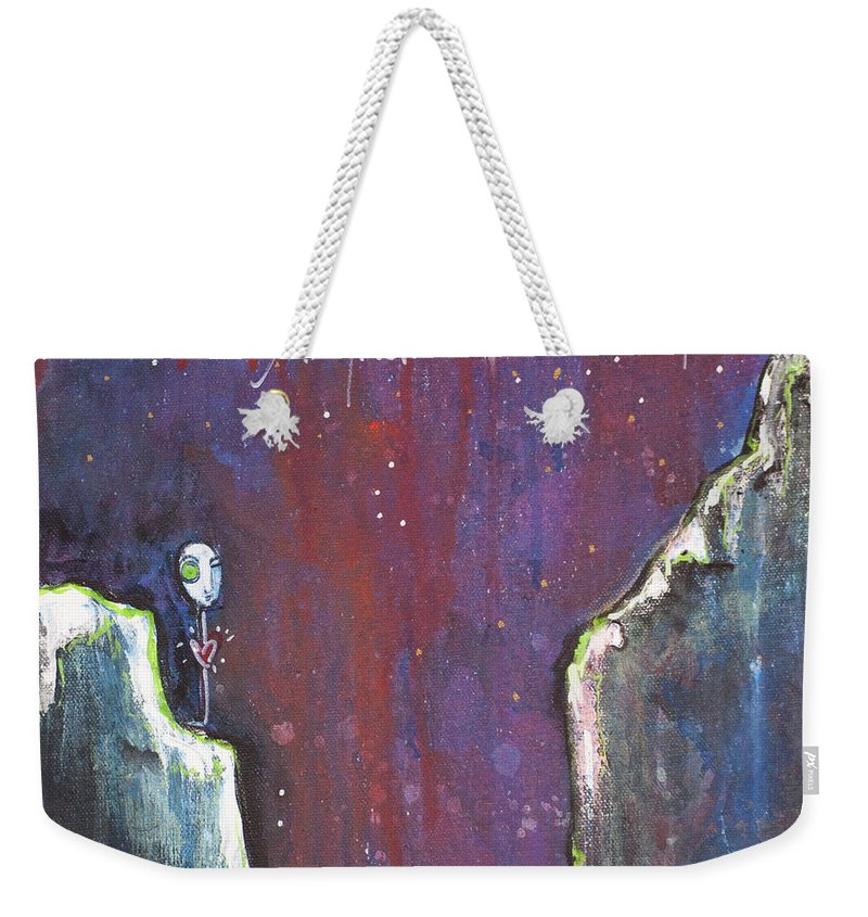 Love Weekender Tote Bag featuring the painting Love Like A Riot by Laurie Maves ART
