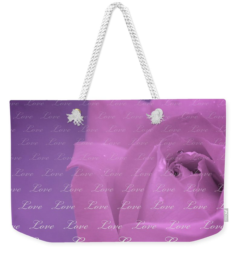 Love Weekender Tote Bag featuring the photograph Love by Lisa Knechtel
