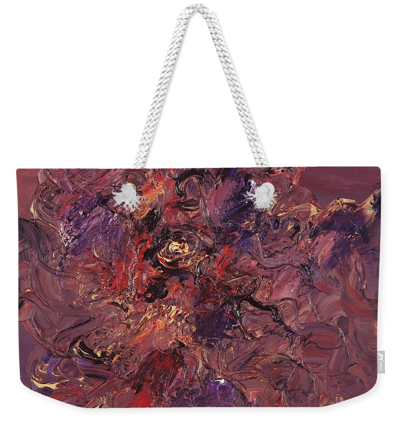 Love Weekender Tote Bag featuring the painting Love by Nadine Rippelmeyer