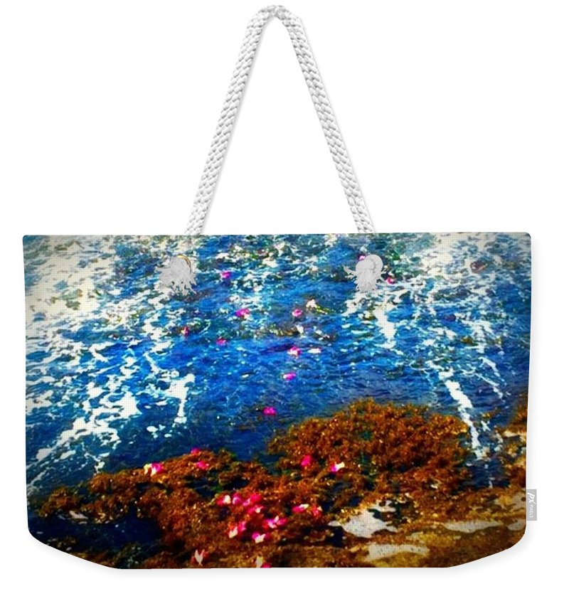 Plumeria Weekender Tote Bag featuring the photograph Love On A Wave by Angeline Suze Munoz