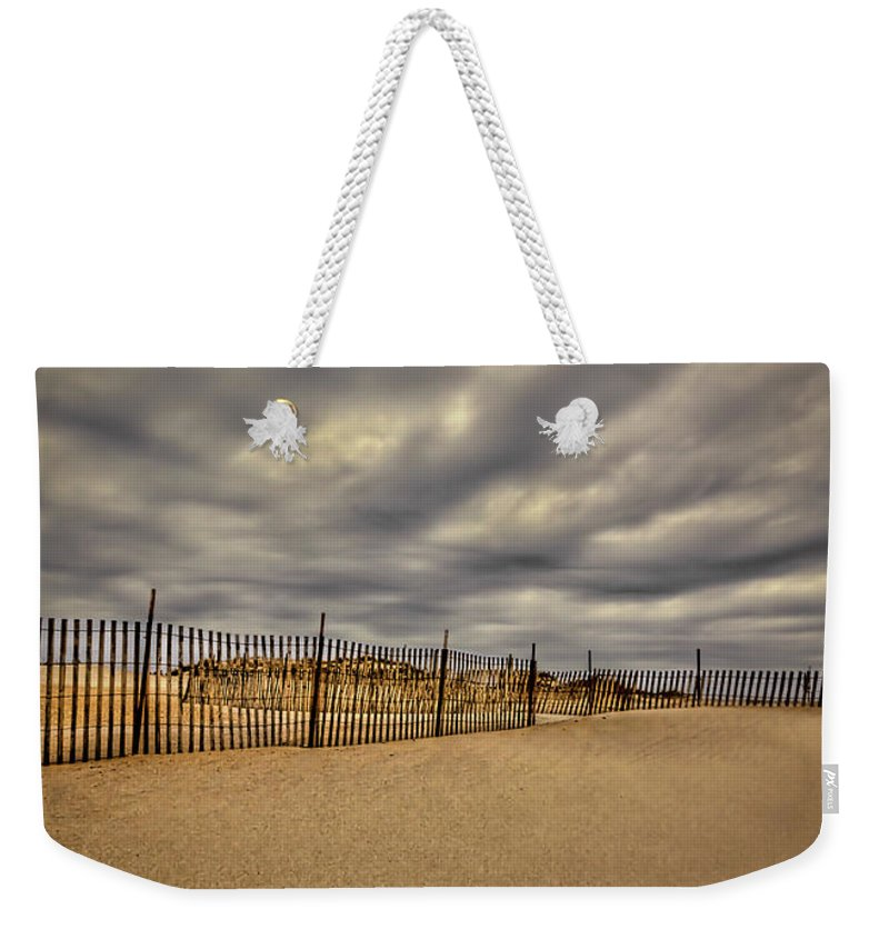 Beach Weekender Tote Bag featuring the photograph Love On The Forecast by Evelina Kremsdorf