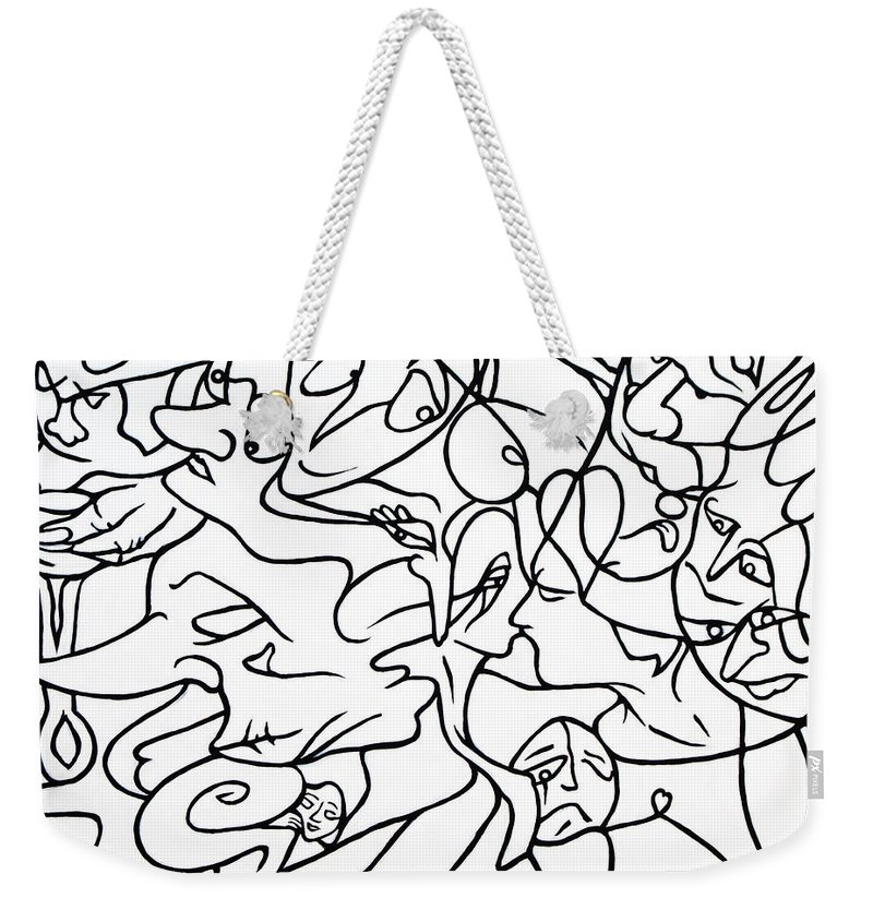 Love Weekender Tote Bag featuring the painting Love Potion by Judy Henninger