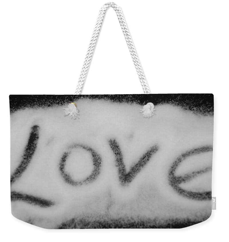 Black And White Weekender Tote Bag featuring the photograph Love by Rob Hans