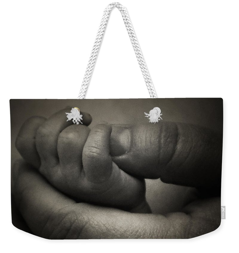Hand Weekender Tote Bag featuring the photograph Love by Scott Pellegrin