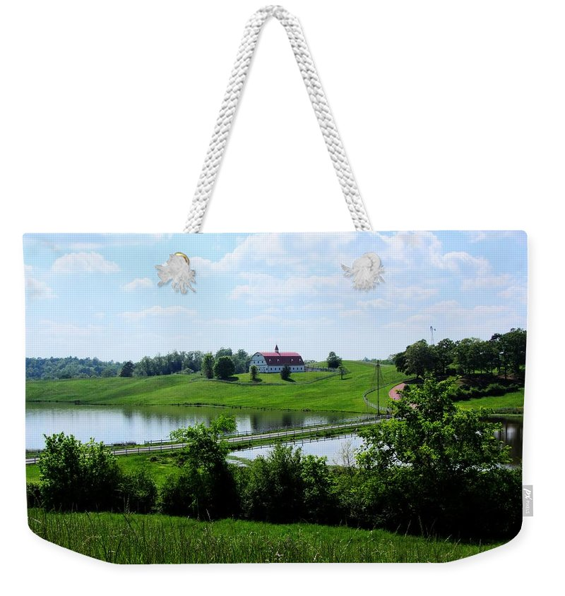 Barn Weekender Tote Bag featuring the photograph Love That Barn by Kathy Clark