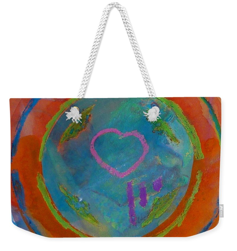 Logo Weekender Tote Bag featuring the painting Love The Sea by Charles Stuart