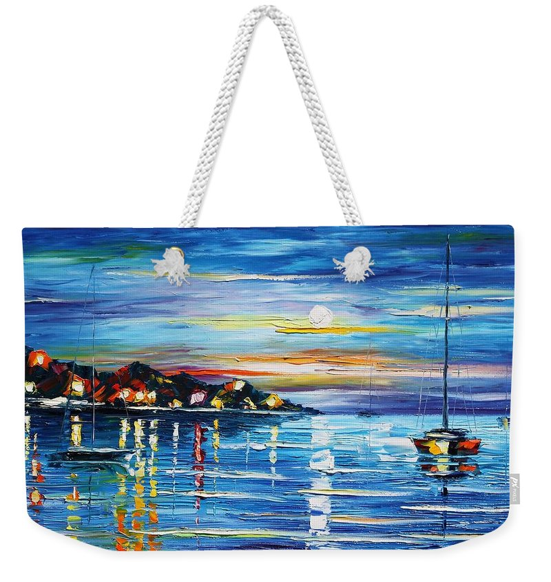 Afremov Weekender Tote Bag featuring the painting Love With The Sea by Leonid Afremov
