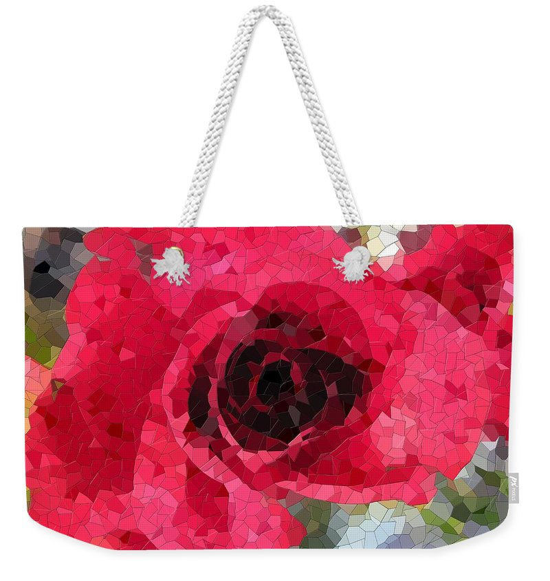 Rose Weekender Tote Bag featuring the digital art Love You by Tim Allen