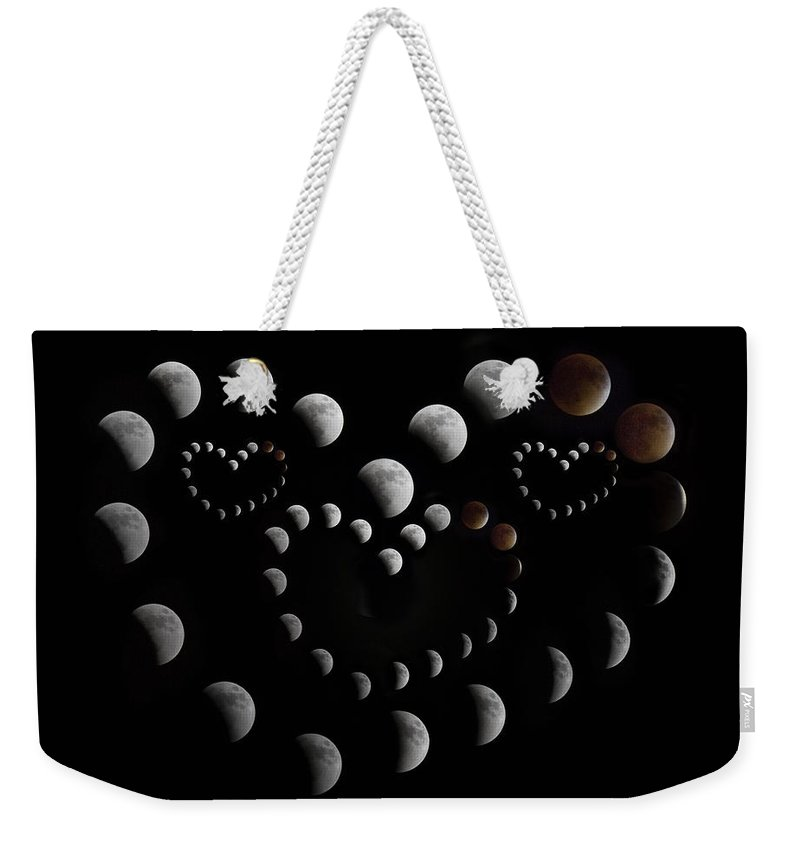 Lunar Weekender Tote Bag featuring the photograph Love You To The Moon And Back by Betsy Knapp