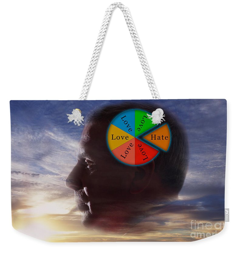 Illustration Weekender Tote Bag featuring the photograph Lovehate Relationship by George Mattei