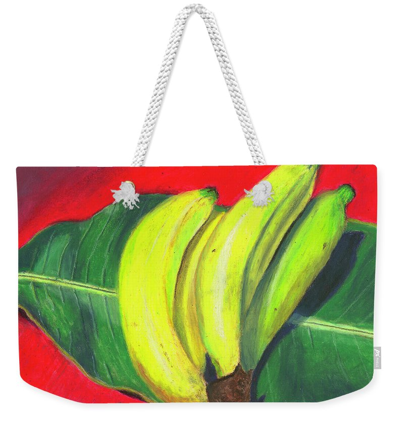 Bananas Weekender Tote Bag featuring the painting Lovely Bunch Of Bananas by Arlene Crafton