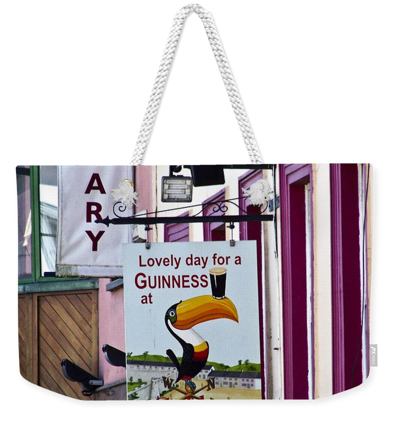 Irish Weekender Tote Bag featuring the photograph Lovely Day For A Guinness Macroom Ireland by Teresa Mucha