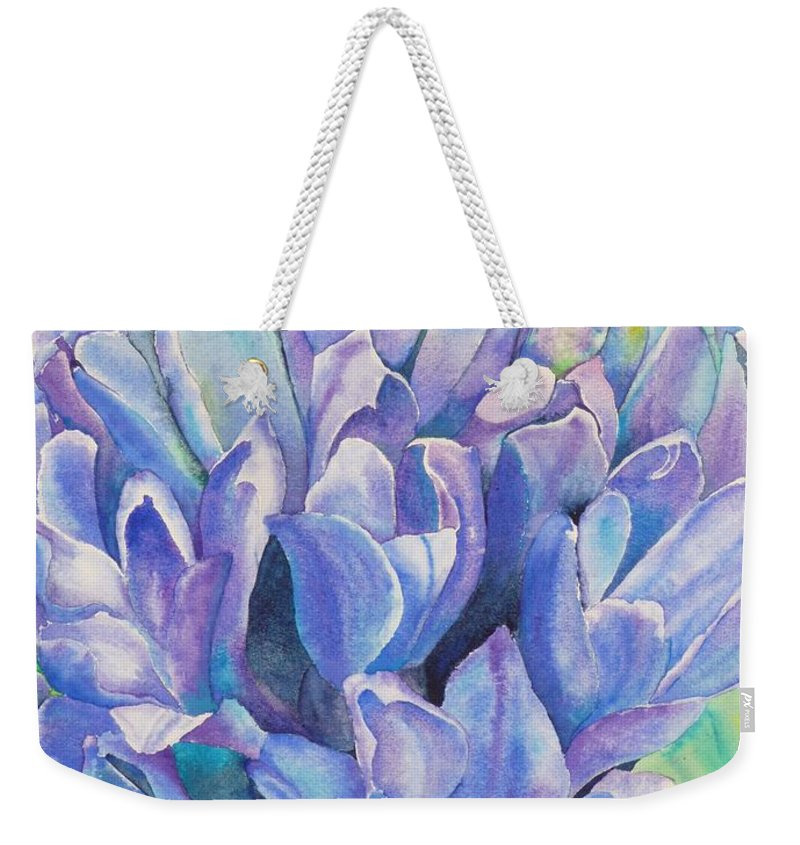 Flower Weekender Tote Bag featuring the painting Lovely Lupine by Ruth Kamenev