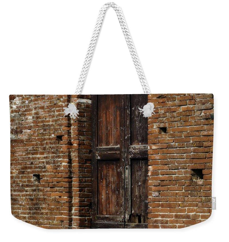 Door Weekender Tote Bag featuring the photograph Lovely Old Door by Marilyn Hunt