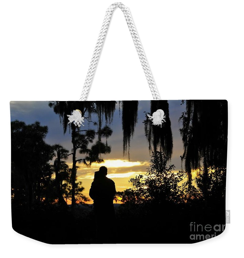 Landscape Weekender Tote Bag featuring the photograph Lover's At Sunset by David Lee Thompson