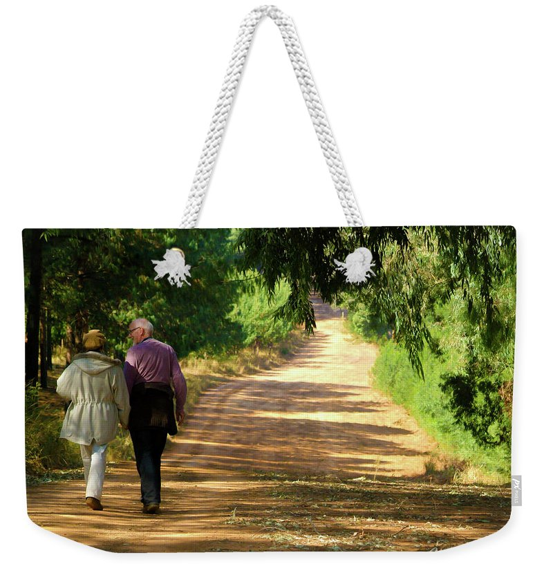 Lovers Weekender Tote Bag featuring the photograph Lover's Lane by Tracey Beer