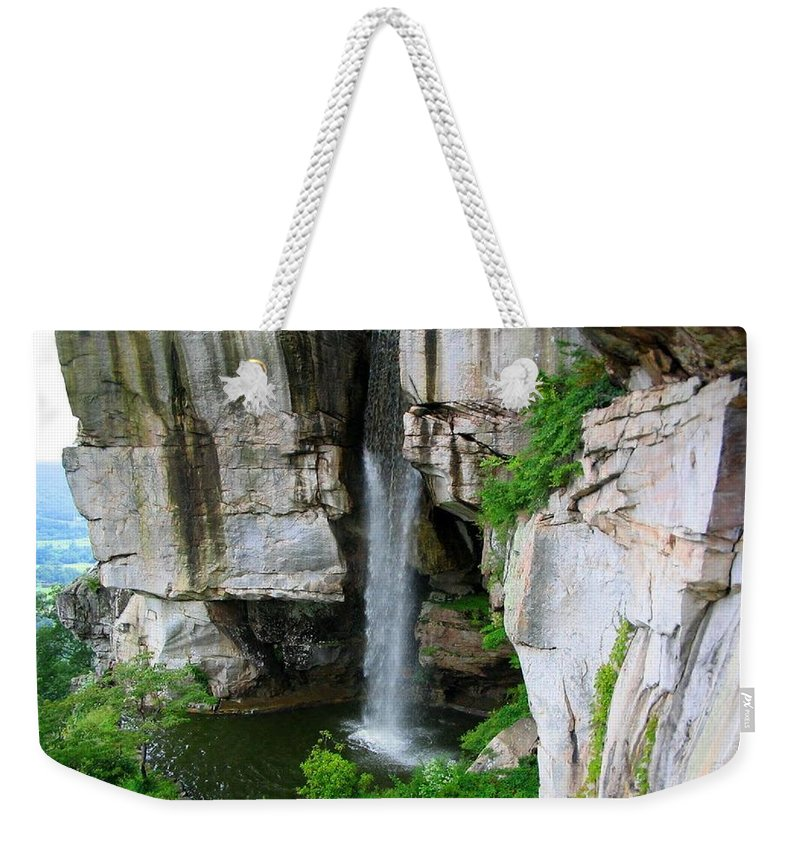 Tennessee Weekender Tote Bag featuring the photograph Lover's Leap Waterfall by April Patterson