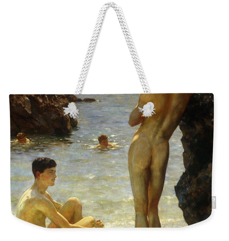 Nude Weekender Tote Bags