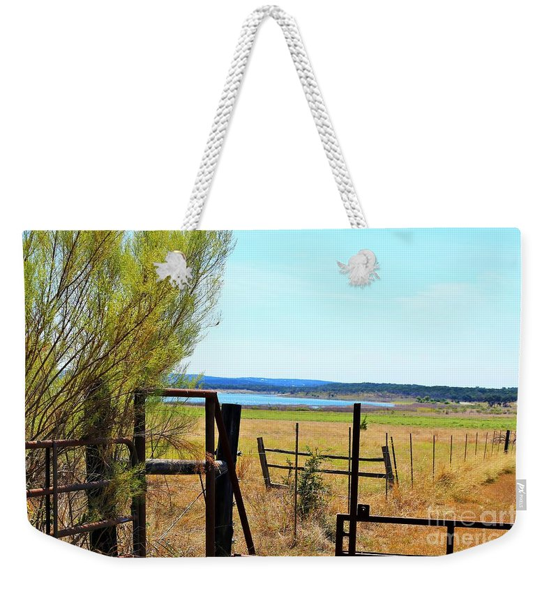 Lake Weekender Tote Bag featuring the photograph Low Land By The Lake by Jeff Downs