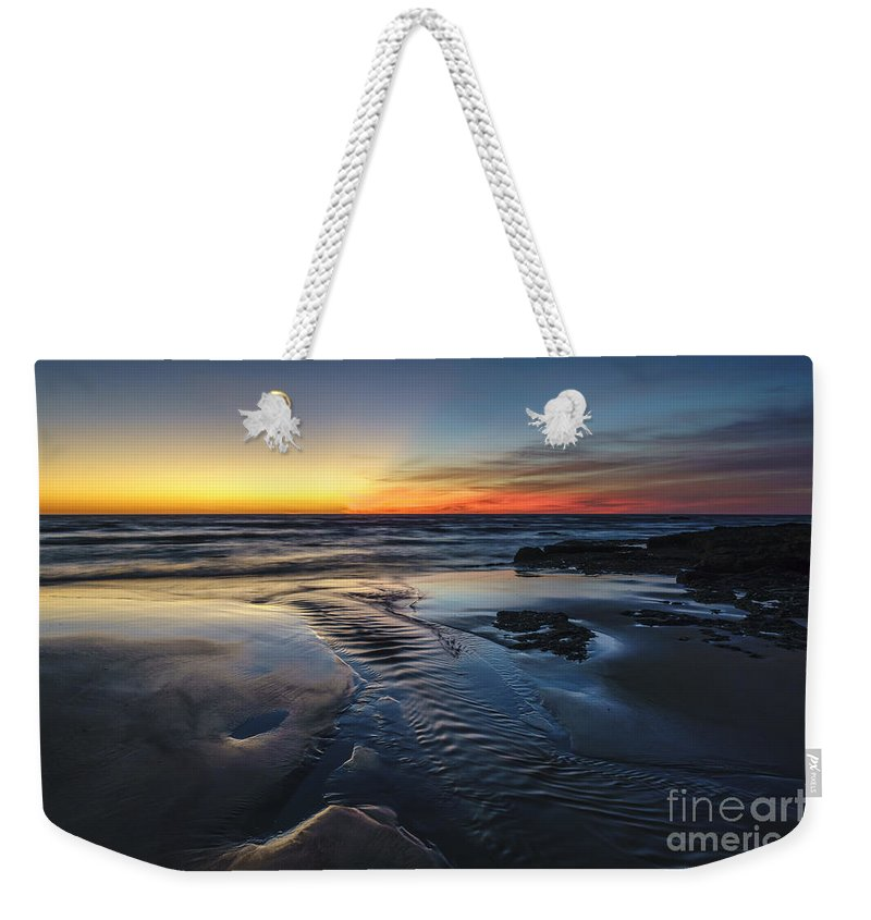 Andalucia Weekender Tote Bag featuring the photograph Low Tide At Torregorda Beach San Fernando Cadiz Spain by Pablo Avanzini